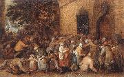 VINCKBOONS, David Distribution of Loaves to the Poor e oil painting artist