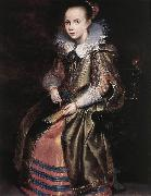 VOS, Cornelis de Elisabeth (or Cornelia) Vekemans as a Young Girl re oil painting picture wholesale