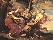 VOUET, Simon Father Time Overcome by Love, Hope and Beauty hf oil painting picture wholesale