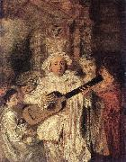 WATTEAU, Antoine Gilles and his Family oil painting artist