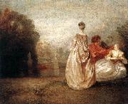 WATTEAU, Antoine Two Cousins oil painting artist