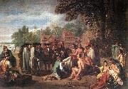 WEST, Benjamin The Treaty of Penn with the Indians. oil painting picture wholesale