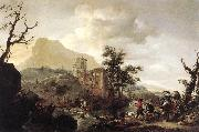 WOUWERMAN, Philips Stag Hunt in a River iut7 oil painting picture wholesale