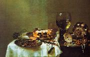 Willem Claesz Heda Breakfast Still Life with Blackberry Pie oil painting artist