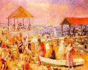 William Glackens Beach Scene near New London oil painting picture wholesale