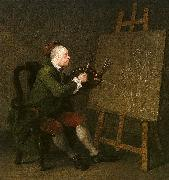 William Hogarth Self Portrait at the Easel oil painting artist