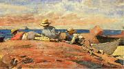 Winslow Homer Three Boys on the Shore oil painting picture wholesale