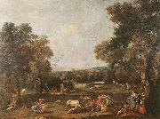 ZUCCARELLI  Francesco Bull-Hunting oil painting