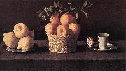 ZURBARAN  Francisco de Still-life with Lemons, Oranges and Rose oil painting picture wholesale