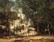 camille corot the mill of Saint-Nicolas-les-Arraz oil painting artist