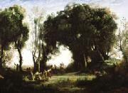 camille corot A Morning; Dance of the Nymphs(Salon of 1850-1851) oil painting artist