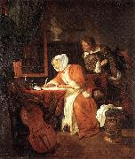 METSU, Gabriel The Letter-Writer Surprised sg oil painting picture wholesale