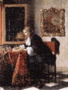 METSU, Gabriel Man Writing a Letter gsg oil painting picture wholesale