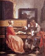METSU, Gabriel Man and Woman Sitting at the Virginal f oil painting picture wholesale