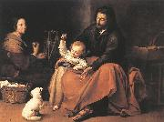 MURILLO, Bartolome Esteban The Holy Family sgh oil painting picture wholesale