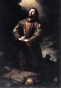 MURILLO, Bartolome Esteban St Francis of Assisi at Prayer sg oil painting picture wholesale