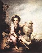 MURILLO, Bartolome Esteban Christ the Good Shepherd sg oil painting picture wholesale