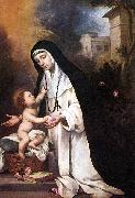 MURILLO, Bartolome Esteban St Rose of Lima sg oil painting picture wholesale