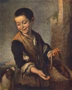 MURILLO, Bartolome Esteban Boy with a Dog sgh oil painting picture wholesale
