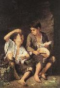 MURILLO, Bartolome Esteban Boys Eating Fruit (Grape and Melon Eaters) sg oil painting picture wholesale