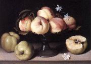 NUVOLONE, Panfilo Still-life with Peaches ag oil painting artist