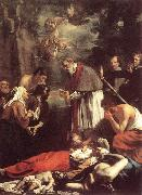 OOST, Jacob van, the Younger St Macarius of Ghent Giving Aid to the Plague Victims sh oil painting picture wholesale