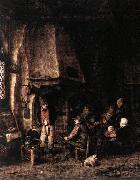 OSTADE, Adriaen Jansz. van Interior of a Farmhouse with Skaters ag oil painting picture wholesale