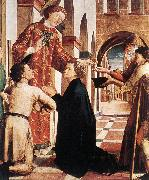 PACHER, Michael St Lawrence Distributing the Alms ag oil painting artist