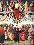 PERUGINO, Pietro The Ascension of Christ af oil painting artist