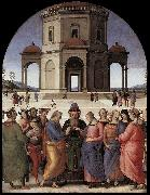 PERUGINO, Pietro Marriage of the Virgin af oil painting picture wholesale