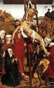 PLEYDENWURFF, Hans Crucifixion of the Hof Altarpiece sg oil painting artist