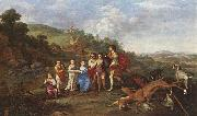 POELENBURGH, Cornelis van Children of Frederick V Prince Elector of Pfalz and King of Bohemia s oil painting artist