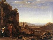 POELENBURGH, Cornelis van Rest on the Flight into Egypt af oil painting artist