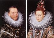 POURBUS, Frans the Younger Archdukes Albert and Isabella khnk oil painting artist
