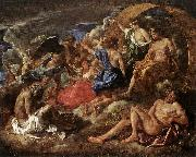 POUSSIN, Nicolas Helios and Phaeton with Saturn and the Four Seasons sf oil painting picture wholesale