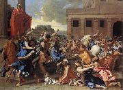 POUSSIN, Nicolas The Rape of the Sabine Women sg oil painting picture wholesale