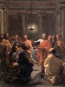 POUSSIN, Nicolas The Institution of the Eucharist af oil painting picture wholesale