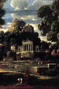 POUSSIN, Nicolas Landscape with the Gathering of the Ashes of Phocion (detail) af oil painting picture wholesale