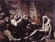 PRETI, Mattia The Raising of Lazarus  hfy oil painting picture wholesale