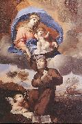 PUGET, Pierre Virgin Giving the Scapular to St Simon Stock sg oil painting picture wholesale
