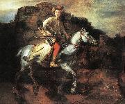 REMBRANDT Harmenszoon van Rijn The Polish Rider oil painting picture wholesale