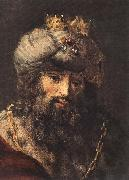 REMBRANDT Harmenszoon van Rijn David and Uriah (detail oil painting picture wholesale