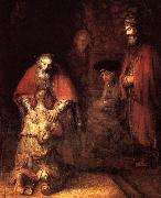 REMBRANDT Harmenszoon van Rijn The Return of the Prodigal Son oil painting picture wholesale