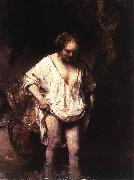 REMBRANDT Harmenszoon van Rijn Hendrickje Bathing in a River oil painting picture wholesale