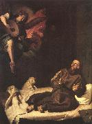 RIBALTA, Francisco St Francis Comforted by an Angel oil painting picture wholesale