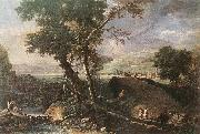 RICCI, Marco Landscape with River and Figures df oil painting picture wholesale