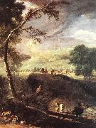 RICCI, Marco Landscape with River and Figures (detail) oil painting picture wholesale