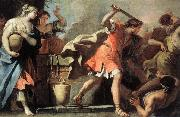 RICCI, Sebastiano Moses Defending the Daughters of Jethro oil painting picture wholesale