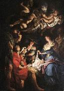 RUBENS, Pieter Pauwel Adoration of the Shepherds af oil painting artist