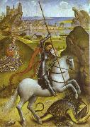 Rogier van der Weyden St. George and Dragon oil painting picture wholesale